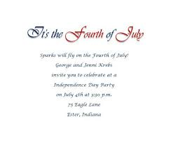 4th of july party invitations wording 2