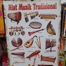 Terbuat dari kulit sapi yang tidak tebal, kulit kambing, rotan, atau bahkan kulit nangka. Jual Poster Nama Nama Alat Musik Tradisional Jakarta Barat King S Calender Tokopedia