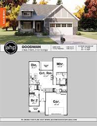 House plans for narrow lots. 1 Story Cottage House Plan Goodman Cottage House Plans Craftsman House Plans Cottage Homes