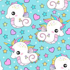 Seamless Pattern With Seahorse And ...