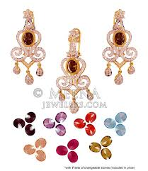 22k exclusive changeable stones set