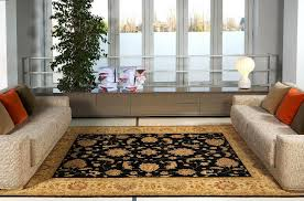 image of oriental rugs with modern furniture