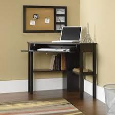 small corner office desk. Sauder Beginnings Corner Computer Desk, Cinnamon Cherry Large Drawer / Shelf With Flip-down Panel For Keyboard Mouse Or Laptop Small Office Desk S