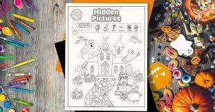 Coins in the town 2. Spooktacular Halloween Hidden Pictures Printable Too Adorable