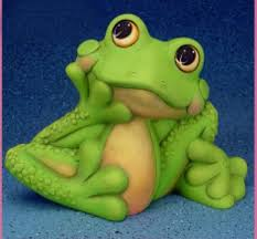 large unfinished ceramic bisque happy garden frog statue
