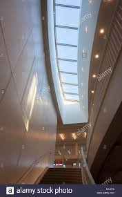 The skylight above the stairs leading to the first level, Q Level, of the
