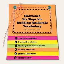 Free Vocabulary Flip Book For Marzanos Six Steps Academic