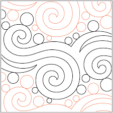 Seafoam - Pantograph | Computerized Long Arm Quilting Patterns ... & Curls Swirls & Spirals Paper Pantograph Quilting Pattern Designed by  Patricia E. Adamdwight.com