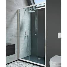 crosswater simpsons edge single sliding shower door