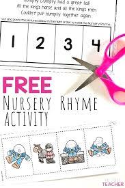 Nursery Rhymes Worksheets For Story Retelling Practice The Super ...