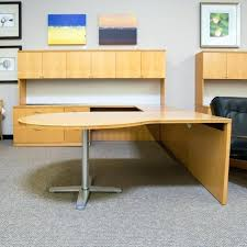 t shaped office desk. U Shaped Office Desk Used Left D Top With Large Hutch Maple T