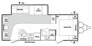 2009 keystone springdale 266rl ssr trailer reviews prices and 2009 keystone springdale 266rl ssr floorplan view floorplan