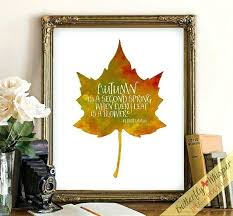fall wall decor inspirational autumn leaves printable by metal wal