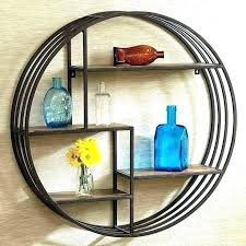 circular shelf round shelves circle wall shelf full size of shelves circular wall rustic metal wood