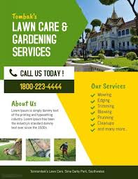 Sample Flyers For Landscaping Business Lawn Landscaping Service Flyer Landscape Plans