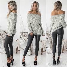 2019 New <b>Fashion 2017</b> Sexy Autumn Winter <b>Women Pullover</b> ...