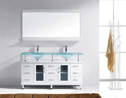 double vanity with top. Home The Virtu Usa Vincente Rocco 59 Double Bathroom Vanity Cabinet Set In Concerning Designs Cabinets With Top