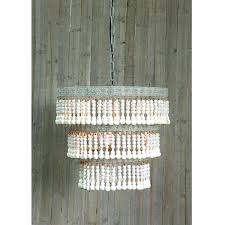 wood bead chandelier beaded by creative co op lighting connection diy