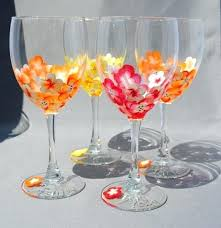 Wine Glass Decorating Designs Painted Wine Glass Designs Check Out These Stunning Hand Painted 22