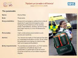 paramedic science foundation degree there are over 350 different careers available in the nhs here are