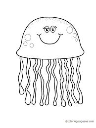 Small Picture New Jellyfish Coloring Page Cool And Best Idea 2772 Unknown