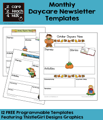Newsletter Free Templates Newsletters Free Printable Templates 2care2teach4kids Com