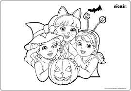 Coloring Pages Nick Jr Printable Coloring Book Nickelodeon Pages
