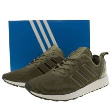 adidas khaki trainers. charms adidas zx flux adv men trainers in khaki color q