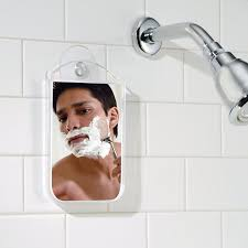 view in gallery shaving mirror with a suction cup