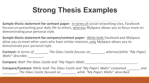 compare contrast essay structure ppt video online strong thesis examples
