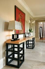 Entrance Table Ideas Hall Contemporary With White Wood Neutral Colors