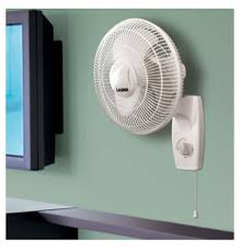 lasko 3012 3 sd 12 inch oscillating wall mount fan head tilts and locks for directional cooling