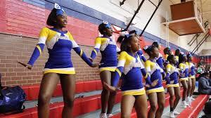 Of cute ebony teen cheerleader