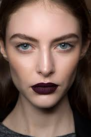 fall beauty goth makeup how to dark black berry lipstick look