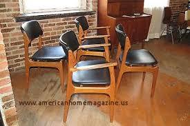 4 dining room chairs ebay mid century danish modern set of 4 erik buck teak dining