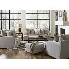 Living Room Furniture Sofas Gabrielle Living Room Sofa Loveseat Cream 334603 Living