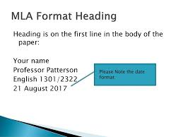 Modern Language Association Mla Format Ppt Download
