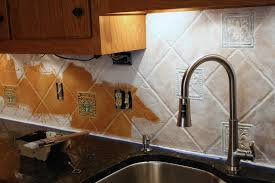 you can paint a tile backsplash talk about a thrifty update full tutorial by designer trapped in a lawyer s
