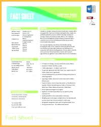 Company Fact Sheet Sample Free Fact Sheet Template Company Example Templates Tsurukame Co