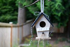 this personalized bird house can be a gift for a wedding anniversary birthday special friend or just because for someone that loves birds and gardening