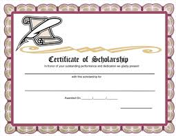 Scholarship Certificate Template 5 Plus Scholarship Award Certificate Examples For Word And Pdf