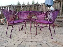 powder coated metal patio furniture