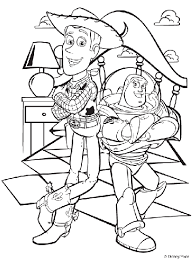 Small Picture Disney Toy Story Woody and Buzz Coloring Page crayolacom