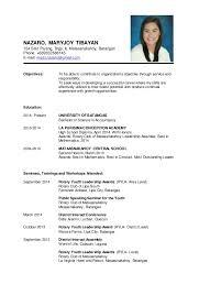 Resume Sample. NAZARO, MARYJOY TIBAYAN 154 Sitio Parang, Brgy. II,  Mataasnakahoy, Batangas Phone ...
