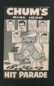 Details About 1959 Chum Chart Walking Man Hit Parade 1050 Bob Laine Toronto