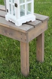 tutorial at lovegrowswild add extra seating with this beautiful and easy diy outdoor bench