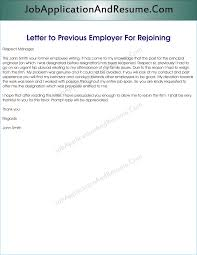 Letter Of Intent To Return To Work After Resignation Sample Letter To Rejoin The Job Jaar Head Hunters