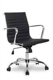 Кресло для персонала <b>College H-966L-2</b>/<b>Black</b>, хром, кожа PU ...