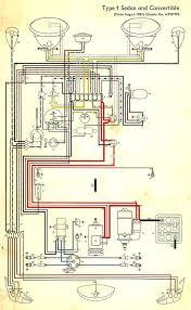 wiring diagram in color 1964 vw bug, beetle, convertible the 1967 vw bug wiring diagram at Vw Type 3 Wiring Diagram