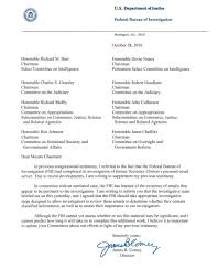 what the fbi director s letter about the clinton emails really says another investigation and right before the election she could be indicted